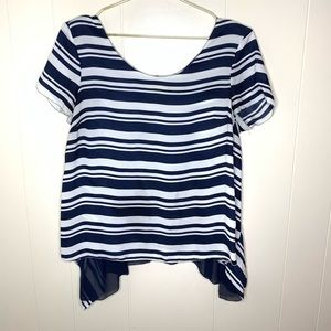 Anthropologie Maeve Apropos Striped Blouse